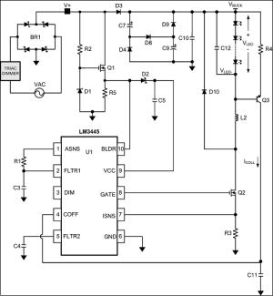 トライアック調光対応 LM3445