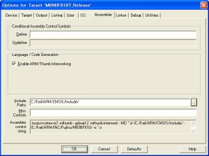 Options for Target Assembler