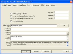 Options for Target Linker